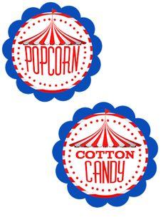 Circus Party Printable FREEBIES!
