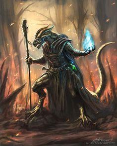 Chyv Imrin, dragonborn sorcerer: