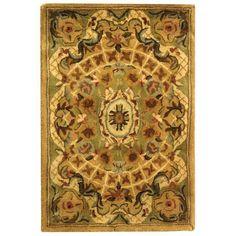 $27 Safavieh Handmade Classic Empire Taupe/ Light Green Wool Rug (2' x 3')