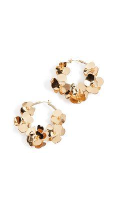 Oscar de la Renta Flower Garden Hoop Earrings | SHOPBOP