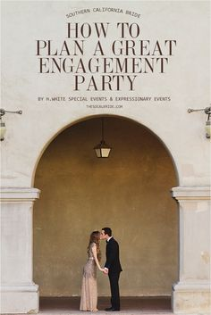 How to plan an engagement party via thesocalbride.com