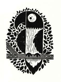 Parrot lino print available at http://folksy.com/shops/PingPrints