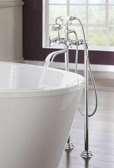Bathroom Fixtures Definition two-handle freestanding tub filler trim : t70385-pnco : charlotte