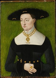 Katharina Merian  Attributed to Hans Brosamer  (German, active by 1536, probably died 1552)    Medium:      Oil and gold on wood  Dimensions:      Overall 18 1/4 x 13 1/8 in. (46.4 x 33.3 cm); painted surface 17 5/8 x 13 1/8 in. (44.8 x 33.3 cm)  Classification:      Paintings  Credit Line:      The Jack and Belle Linsky Collection, 1982  Accession Number:      1982.60.38    This artwork is currently on display in Gallery 537