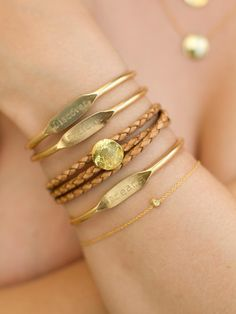 """Jook and Nona - Mark Twain Trio Brass Cuff Bracelets. they say """"explore"""" """"discover"""" """"dream"""" I would like to look down on my wrist and see these words every day"""
