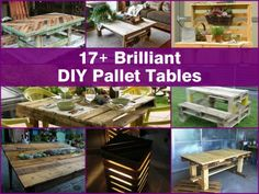 17+ Brilliant DIY Pallet Tables