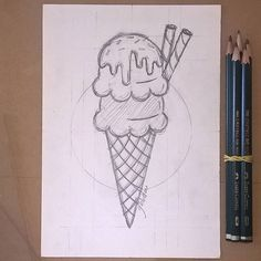 "003 - ""true love""#icecream #icecreamcone #draw #drawing #drawing #sketch #sketching #illustration #illustrator #ice #cream #cone #desenho #ilustração #ilustra #materials #artsupply"