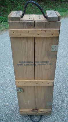 CANNON Ammunition Wooden Crate WITH by TheRecycledGreenRose