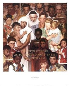 "Norman Rockwell ""The Golden Rule"" (1961)"