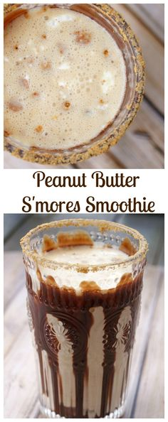 peanut butter s mores smoothie these peanut butter s mores smoothies ...