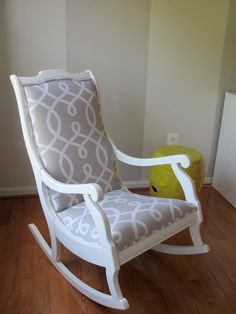 remember my friend katy and her yellow gray pink nursery i have some great pictures to share of her rocking chair revamp - Rocking Chairs For Nursery