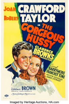 """Movie Posters:Drama, The Gorgeous Hussy (MGM, 1936). One Sheet (27"""" X 41"""") Style C.. ..."""