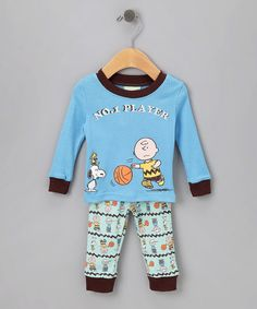 Take a look at this Blue 'No. 1 Player' Pajama Set - Infant & Toddler  by Vintage Snoopy on #zulily today!