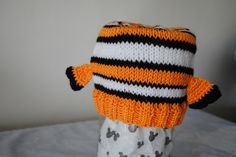 Nemo/Finding Nemo Inspired Hand Knit Hat by HouseofMouseHats on Etsy https://www.etsy.com/listing/272378418/nemofinding-nemo-inspired-hand-knit-hat