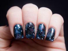 Into the Glitterverse: Galaxy Nails