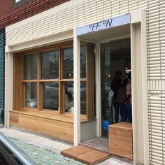 Ideas Exterior Design Cafe Shop Fronts For 2019 Facade Design, Exterior Design, Japanese Coffee Shop, Brick Cafe, Cafe Exterior, Colonial Exterior, Shop Front Design, Design Shop, Coffee Shop Design