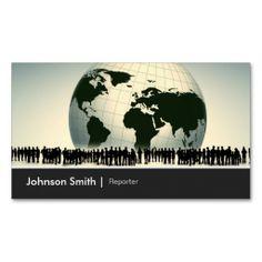214 best journalistreporter business cards images on pinterest reporter journalist global worldwide enterprise business card template reheart Choice Image