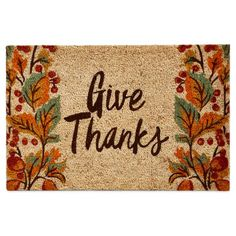 product image for TAG® 18-Inch x 28-Inch Give Thanks Door Mat in Beige