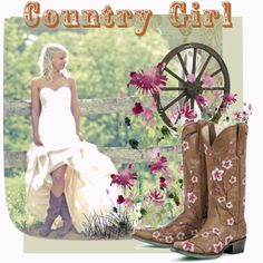 country girl, created by kathy-martenson-sanko on Polyvore