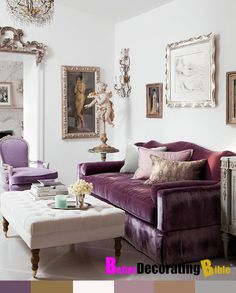 Purple couch living room pillow heaven living room purple sofa home decor e purple couch purple Home Living, My Living Room, Small Living, Living Room Decor, Living Spaces, Modern Living, Modern Wall, Apartment Living, Bedroom Apartment