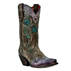 I want these boots when I win the lottery. Dan Post Women's Distressed Blue Arrow Western Boots
