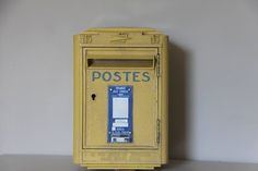 French Vintage Mail Box, Post Box, 1970 Cast Metal Mail Box Loft deco by maintenant on Etsy