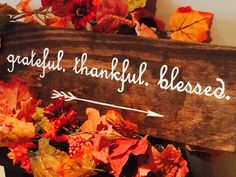 Rustic wooden sign perfect for Thanksgiving