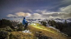 A hiker in the Tyrolean Alps rests beneath the stars in this National Geographic Photo of the Day from our Your Shot community. Scenic Photography, Photography Tips, Photography Courses, Digital Photography, Landscape Photography, Mountain Images, Adventure Photos, Take Better Photos, National Geographic Photos
