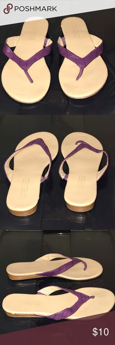 Purple Sandlas Purple leather sandals. Smoke and pet free home. Joy & Iman Shoes Sandals