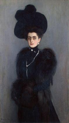 Nikolai Bogdanov-Belsky. Portrait of Princess Maria Abamelek-Lazareva nee Princess Demidova