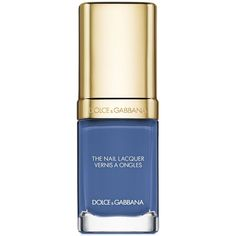 Dolce & Gabbana Intense Nail Lacquer ($27) ❤ liked on Polyvore featuring beauty products, nail care, nail polish, jaipur blue, dolce&gabbana and blue nail polish