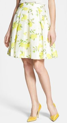 Love the watercolor lemons on this silk skirt http://rstyle.me/n/fkt3anyg6