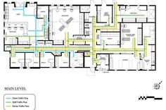 Years of planning and re-planning led to a space-efficient veterinary hospital in San Clemente, Calif. Hospital Floor Plan, New Hospital, Hospital Architecture, Library Architecture, Animal Care Hospital, Click Flooring, Office Floor Plan, Laundry Room Layouts, Hospital Design