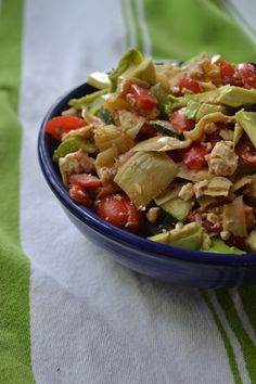 Greek Vegetable Salad with Lemon Balsamic Dressing   {Gf, Vegan}
