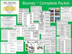Biomes of the World ~ Complete Packet 22 pages from Making_It_Teacher on TeachersNotebook.com -  (22 pages)