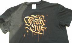 FrakOne. Stencil Art, Mens Tops, T Shirt, Fashion, Supreme T Shirt, Moda, Tee Shirt, Fashion Styles, Fashion Illustrations