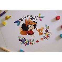 Esta bonita lámina de la colección Born to be Wild está a partir de hoy a la venta en etsy.com/shop/lapendeja ❤️