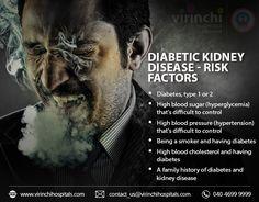 Infographs_Diabetic_Kidney_Disease-Risk_factors High Blood Sugar, High Blood Pressure, Kidney Disease, Cholesterol, Family History, Factors, Type 1, Diabetes, Genealogy