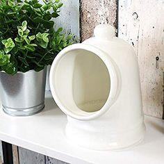 Large 19cm Porcelain Salt Storage Pig