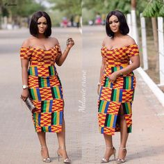 Look Stunning, Slinky & Hot With The Latest Kente Styles – Rendy Trendy African Fashion Designers, Latest African Fashion Dresses, African Print Dresses, African Dresses For Women, African Print Fashion, Africa Fashion, African Attire, African Wear, African Women