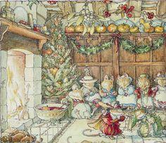 ilclanmariapia: Jill Barklem seen from Lilia Art And Illustration, Book Illustrations, Brambly Hedge, Beatrix Potter, Hamsters, Whimsical Art, Christmas Art, Hedges, Illustrators