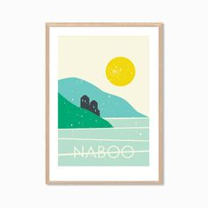 https://www.etsy.com/listing/100666423/star-wars-naboo-poster-modern-planet naboo