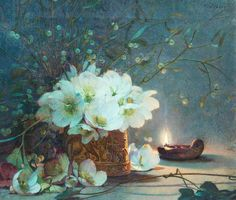James Valentine Jelley - Christmas Roses
