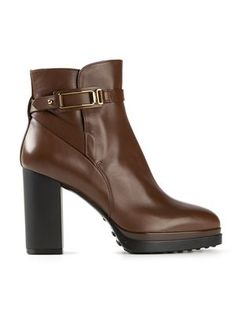 strap buckle ankle boots