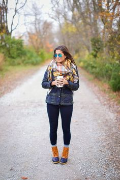 A Southern Drawl: Quilted Plaid + Bean Boots