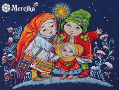 Christmas, cross stitch, x-mas, cross stitch kit, angel, girl, merejka, star, christmas star