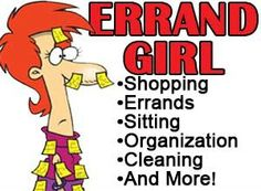 Errand Girl Services 10% OFF ANY SERVICE! Not valid with any other offer. Expires 9/18/2015.
