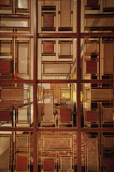 screen/divider pattern for upstairs.  Kerry Hotel (Main Lobby) Shanghai, China on Interior Design Served