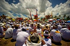 """#PINdonesia A ceremony to prepare for Hari Nyepi, Bali, Indonesia -   Copyright James Morgan  ~ Nyepi is a Balinese """"Day of Silence"""" that is commemorated every Isaawarsa (Saka new year) according to the Balinese calendar (in 2014, it falls on March 31). It is a Hindu celebration mainly celebrated in Bali, Indonesia. Nyepi, a Government holiday in Indonesia, is a day of silence, fasting and meditation for the Balinese. The day following Nyepi is also celebrated as New year."""