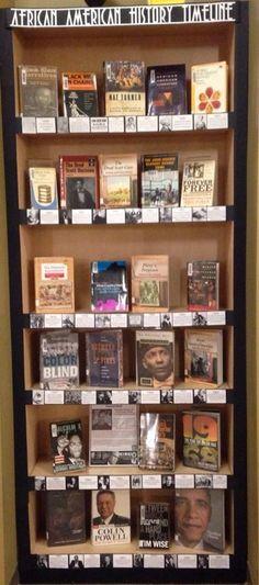 African American History Timeline display African American History Month Black L. History Classroom, History Teachers, African American History Timeline, Library Book Displays, Library Ideas, Black History Month Activities, Black History Books, High School History, Nasa History